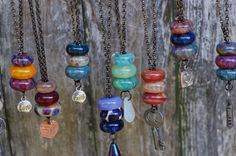 Lampwork Glass Beaded Lariat Necklaces Boro
