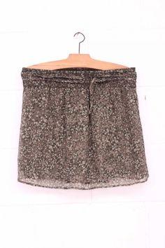 Falda Militar, Falda gasa, military skirt, System Action, shop online, lookbook, model, street Style, SS2015, PV2015, new collection