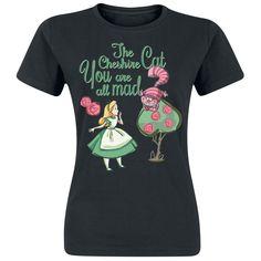 """Alice im Wunderland T-Shirt, Frauen """"You Are All Mad"""" schwarz online kaufen bei EMP"""