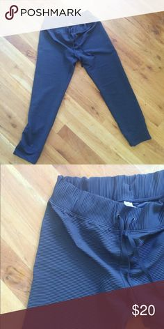 Size M GAP Fit Skinny track pants-EUC These are in EUC and so cute with navy and blue stripes. GAP Pants Track Pants & Joggers
