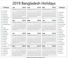 bangladesh government holiday calendar 2019 pdf