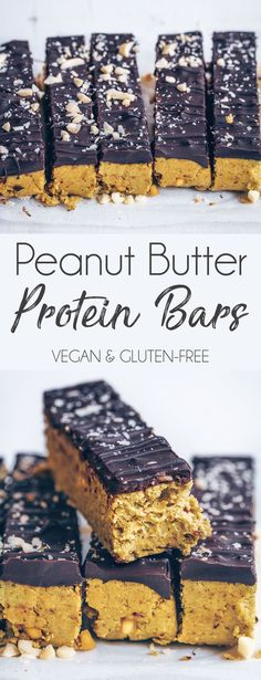 Peanut Butter Protein Bars - UK Health Blog - Nadia's Healthy Kitchen