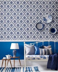 Attrayant Costello: Blue/White By Graham And Brown