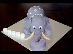 Cake decorating tutorial - how to make a 3D elephant cake - Sugarella Sweets - YouTube