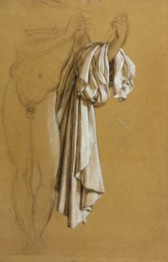 Joseph-Ferdinand Lancrenon (French, 1794-1874), Study of Drapery, National Gallery of Scotland