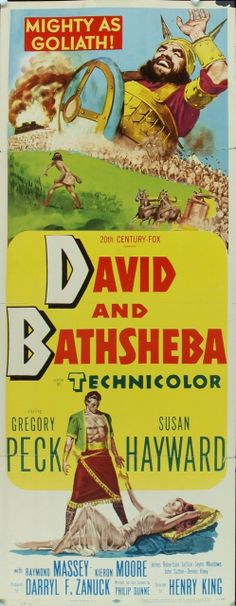 MovieArt Original Film Posters - DAVID AND BATHSHEBA (1951) 16406, $95.00 (http://www.movieart.com/david-and-bathsheba-1951-16406/)