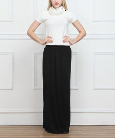 Look at this Black Maxi Skirt on #zulily today!
