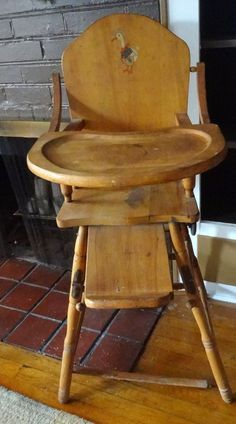 Wooden High Chairs For Babies Sunbrella Lounge 115 Best 1950s Vintage Chair Images Children Furniture Light Wood Tone Baby Feeding Made In Usa Unknown