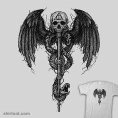 The Dark Lord #book #film #harrypotter #manuelda #movie #skull #snake #wings #wizard