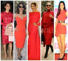 These Bollywood beauties can give you lessons on how to rock colour red!