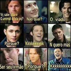 #Sobrenatural Supernatural Bloopers, Supernatural Tumblr, Supernatural Tattoo, Supernatural Imagines, Supernatural Wallpaper, Supernatural Destiel, Funny Images, Funny Pictures, Why God Why