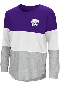 Colosseum K-State Wildcats Girls Purple Treasure Long Sleeve T-shirt Kansas State University, Kansas State Wildcats, Purple T Shirts, Gear Shop, Fashion Outfits, Sweatshirts, Long Sleeve, Girls, Clothing