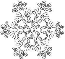Copo de nieve patron