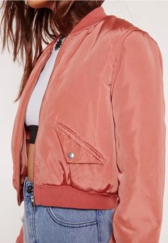 Beaut bombers are everywhere right now, so zip it up and make sure you bag your own. This pink jacket is the one to watch! Featuring a versatile dark rose hue, two pockets to the front, crop style and bomber design, you'll look effortlessly...