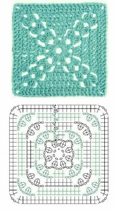 Love scrap use maybe that happens to all old knitters and crocheters lol jh crochet fox crochet gifts love crochet crochet granny crochet squares crochet lace crochet motif crochet stitches crochet patterns – ArtofitCal crochet in boom flower squar Crochet Motifs, Crochet Blocks, Granny Square Crochet Pattern, Crochet Diagram, Crochet Stitches Patterns, Crochet Chart, Crochet Squares, Love Crochet, Knit Crochet