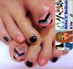 Arte y color en tus uñas pedicura 9.000 cambio esmalte 5.000