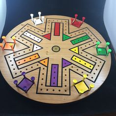 Handmade game for the whole family. So much fun for the whole family to play. Comes with instructions for playing the game. The size is 15