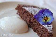 Mat for sjelen...: Sjokoladekake med linfrømel...