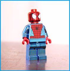 Spiderman minifigure chrome Mervel (lego custom) | eBay