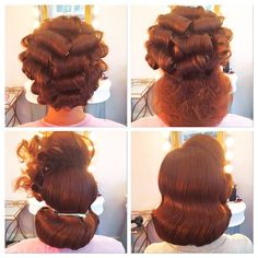 Bob Hair, Hair Dos, 1950s Hairstyles, Up Hairstyles, Wedding Hairstyles, 1940s Hairstyles For Long Hair, Vintage Hairstyles Tutorial, Wedding Updo, Pelo Retro