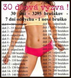 cviceni Body Fitness, Fitness Tips, Fitness Motivation, Health Fitness, 30 Day Challenge, Workout Challenge, Training Plan, Excercise, Stay Fit