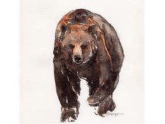 bear watercolor - Buscar con Google