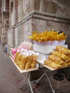 Ecuadorian street food stand