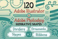 120 Handwritten Decorative Shapes 01 by Cruzine on @creativemarket