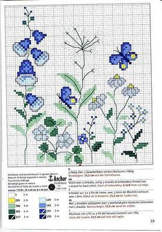 Flowers and Butterflies - 2/2 Solo Patrones Punto Cruz | Aprender manualidades es facilisimo.com