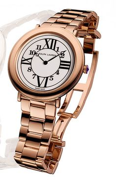 Beautifully crafted and impeccably designed: the Ralph Lauren RL888 watch can be made from rose gold or stainless steel, have a metal of fabric strap, have diamonds in the bezel, and come in either 32 or 38mm. The design choices and options are almost endless. Discover more from the fashion forward watch for women: http://www.thejewelleryeditor.com/window-shopping/watches-for-her/ralph-lauren-38mm-rl888-watch-in-rose-gold-with-rose-gold-bracelet/