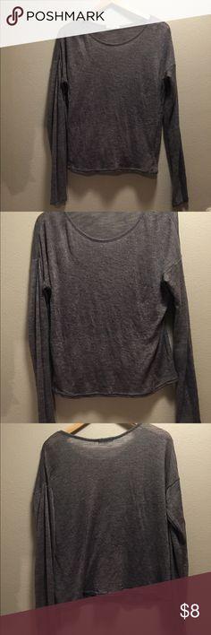 Long sleeve grey top! Long sleeve grey top/sweater. Slightly worn! Aeropostale Tops Tees - Long Sleeve