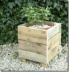 Pallet Furniture Projects Pallet Planter - would like to see this painted some fun colors - Learn to DIY Recycled Pallet Furniture. Find creative home decor ideas, project plans tutorials to recycle wooden pallets into fun furniture pieces. Recycled Pallet Furniture, Wooden Pallet Projects, Pallet Crafts, Pallet Ideas, Diy Projects, Project Ideas, Diy Crafts, Old Pallets, Wooden Pallets
