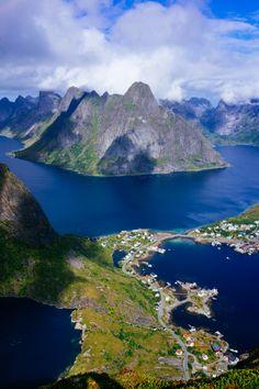 "travel-lusting: ""Reinebringen, Lofoten Islands, Norway (by perahia) """