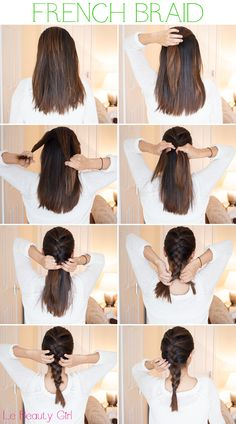 Do the traditional braid pattern, but make sure that the portions are woven into your hair. Section your hair into three and start braiding like the way you do in the traditional braid: left on top of middle, then right over middle. #long hairstyles
