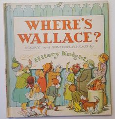1964-Childrens-Book-Wheres-Wallace-by-Hilary-Knight-Hardcover-Very-Good