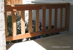 pics of wooden deck handrails | Here is the front porch railing that matches the deck railing above. I ...