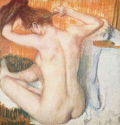 Edgar Degas, Woman Combing Her Hair, 1885