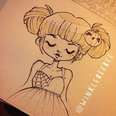regram @winklebeebee October 30th #Inktober drawing [Web]. I almost didn't make…