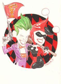 Joker and Harley Quinn art by Dustin Nguyen Dustin Nguyen, Comic Art, Comic Books, Gotham Villains, Batman Tattoo, Batman Universe, Dc Universe, Joker Art, Joker And Harley Quinn