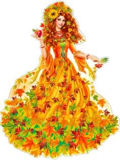 Art For Kids, Crafts For Kids, Victorian Crafts, Fall Clip Art, Autumn Fairy, Fantasy Mermaids, Ukrainian Art, Fantasy Paintings, School Decorations