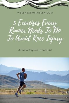 ITB Syndrome aka Runner's Knee is a common injury in runners. Do these 5 exercises to either fix your knee pain or to prevent future pain. Fitness Facts, Fitness Tips, Knee Strengthening Exercises, How To Strengthen Knees, Runners Knee, Knee Osteoarthritis, Muscle Imbalance, Arthritis Exercises, Knee Pain Relief