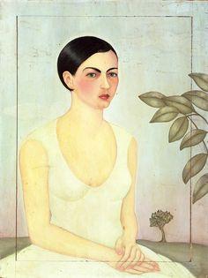 Dama de Blanco (1928), Frida Kahlo