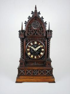German Clocks   german cuckoo bracket clock