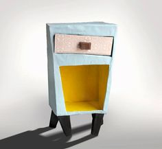 Small paper mache furniture from recycled by popRenaissance, $70.00