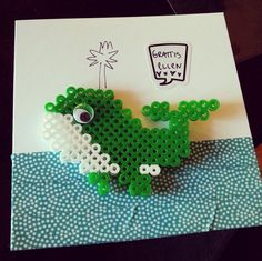 Original use of hama beads in a #washi card! Must try this one at home.