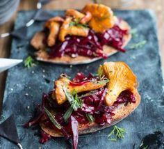 Shukhi – warm beetroot & mushroom salad