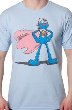 This Sesame Street t-shirt features a graphic of Super Grover, Grover's alter ego.