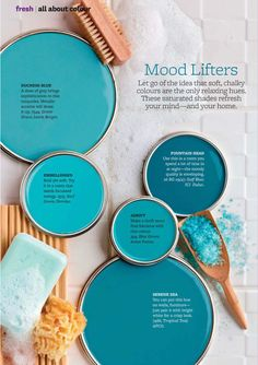 New bedroom blue walls colour palettes coastal colors 33 Ideas Blue Wall Colors, Room Paint Colors, Paint Colors For Home, Bedroom Colors, Turquoise Paint Colors, Colours, Beach House Colors, Color Schemes Colour Palettes, Paint Color Schemes
