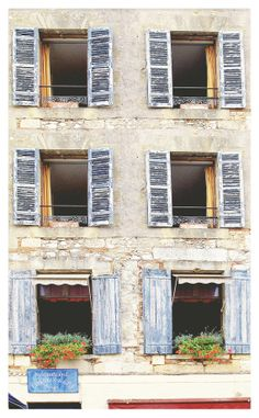 French Shutters Photography Prints France by LeoniePenneyPhotos, £8.00