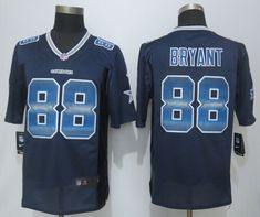 2015 New Nike Dallas Cowboys 88 Bryant Navy Blue Strobe Limited Jersey  Cowboys 88 66417e305